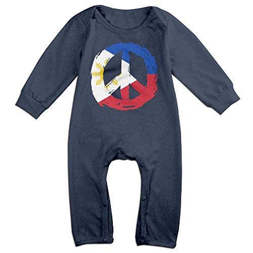 TYLER DEAN Baby Girls Jumpsuit Philippines Flag Peace Baby Rompers Navy]()