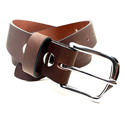 Burgundy 1.25 (36) Handmade Custom Leather Belt - Handmade Buckle