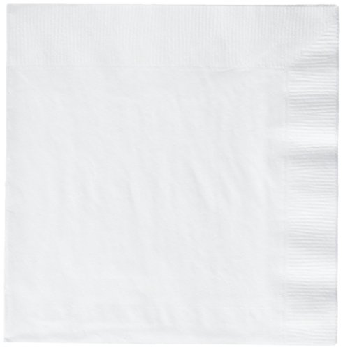 (Frosty White 3-Ply Luncheon Napkins | Pack of 20 | Party)