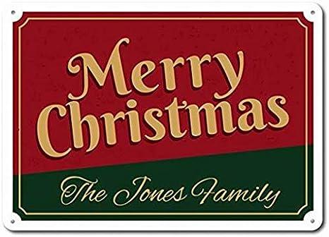 Christmas Decor Custom Merry Christmas To All Sign Family Name Sign Quality Aluminum Holiday Decor Christmas Sign Merry Christmas Sign