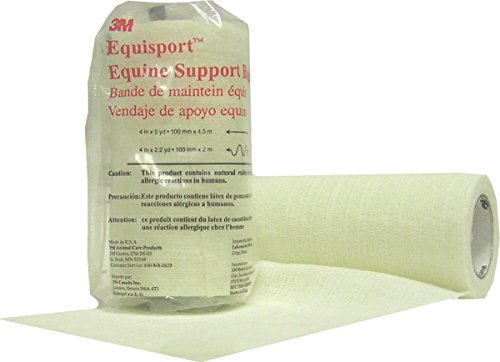 3M Equisport Equine Support Bandage for Horses, 4-Inch by 5-Yard, White by 3M (Image #2)