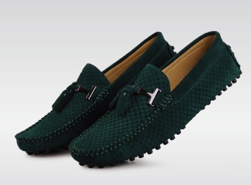 Happyshop (tm) Mens Moccasin Loafers Uformell Semsket Skinn Kjøre Sko  Komfort Slip-on ...