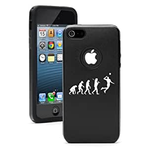 Apple iPhone 5 5S Black 5D784 Aluminum & Silicone Case Cover Evolution Volleyball