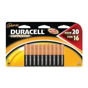 Duracell Coppertop AAA Alkaline Batteries, 80 Count by Duracell