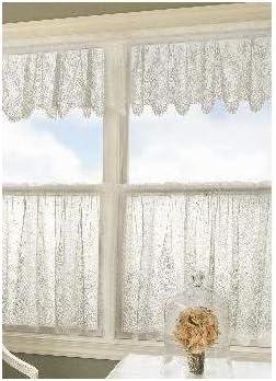 Heritage Lace Floret 60-Inch Wide by 24-Inch Drop Tier, Ecru