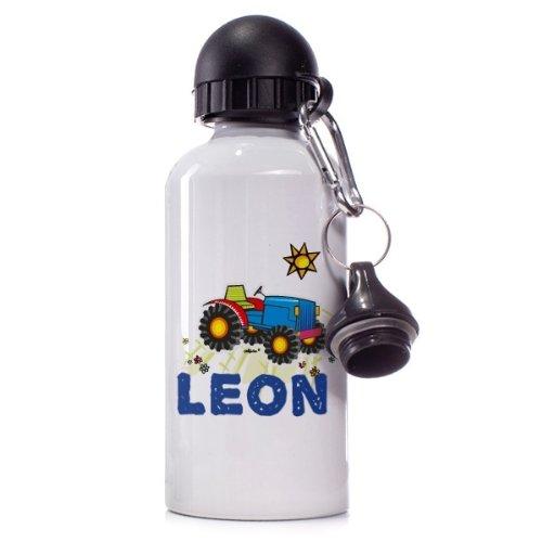 Traktor Name Striefchen/® Trinkflasche Motiv Leon