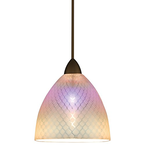 WAC Lighting MP-546-DIC/DB Ambrosia European Collection 1-Light Monopoint Pendant with Dichroic Shade and Dark Bronze Finish ()