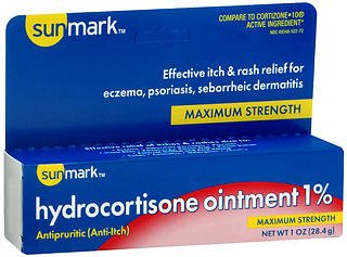 (Sunmark Hydrocortisone Ointment 1% Maximum Strength, 1 oz by Sunmark (Pack of 2))