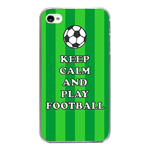"Disagu Design Case Coque pour Apple iPhone 4 Housse etui coque pochette ""KEEP CALM AND PLAY FOOTBALL"""