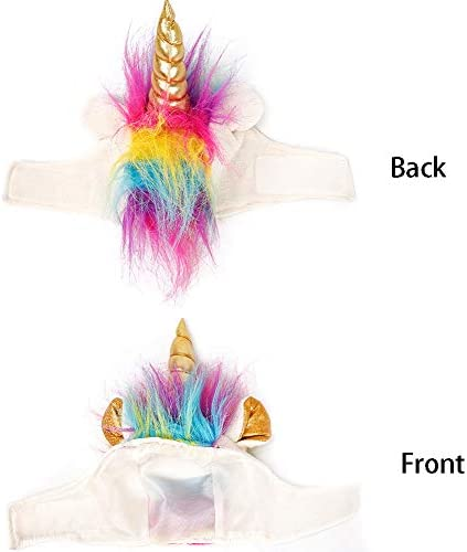 NACOCO Cat Unicorn Hat with Ear Hole for Small Dogs Puppy, Cat Costume Accessory for Halloween, Cosplay Mane Cap 22