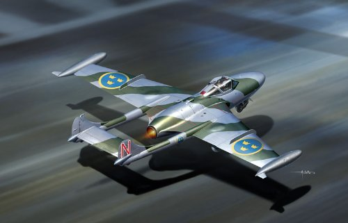 Cyber Hobby Models De Havilland DH-112 Venom NF-3 Model Kit (1/72 Scale)