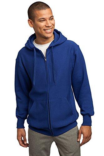 pesado de Hombres con completa cremallera Sport capucha peso Tek cobalto sudadera azul xSqwwIU