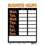 "9x12"" Pvc Sign ""Business Hours"""