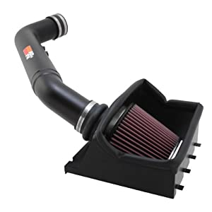 K&N Performance Cold Air Intake Kit 77-2582KTK with Lifetime Filter for Ford F250/F350 Super Duty 6.2L V8