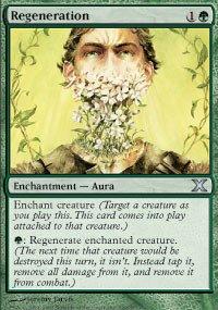 Magic The Gathering 10th Edition Decks - Magic: the Gathering - Regeneration (290/383) - Tenth Edition - Foil