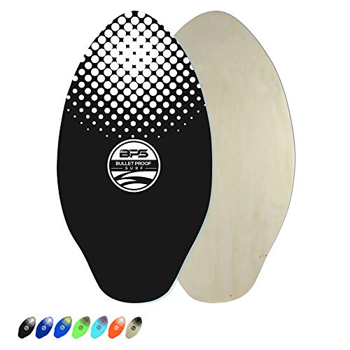 BPS Skimboard with Epoxy Coating/High Gloss Clear Coat   Colored Wooden Skim Board for Kids and Adults   Choose from 3 Sizes and Board Color