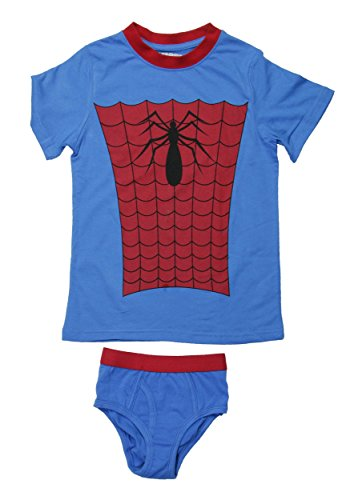 DC Comics Boys' Spiderman 2pc Underoos Set (X-Small / 4)