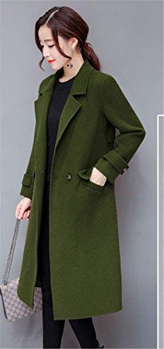 mujer Verde para trenca JOTHIN Abrigo wxn677