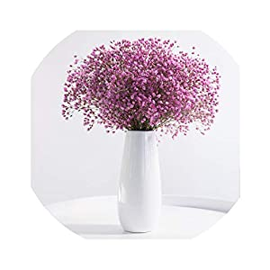Little-Lucky Dried Flowers vase Suit Gypsophila Everlasting Flower Home Living Room furnishings Decorative Flower Arrangement,H 20
