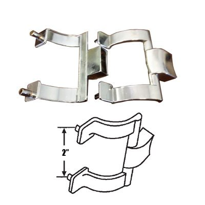 (Chrome Shower Door Towel Bar Brackets Only, 2