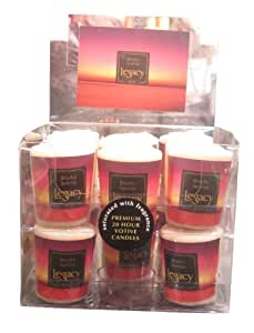 Root Candles Scented Votive Candles, Box of 18, Blissful Sunrise