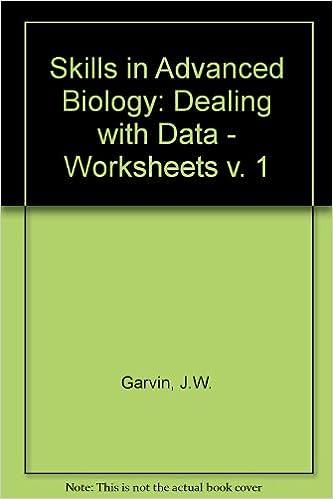 Skills in Advanced Biology: Dealing with Data - Worksheets v. 1 ...