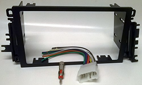 Radio Dash kit, wire harness and Antenna adapter for installing a new Double Din Radio into a Suzuki Vitara (1999-2004), Grand Vitara (1999-2002), XL7 (2001-2002), Esteem (1998-2002), Sidekick (1996-1998)