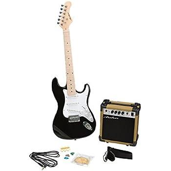 archer ss10jrpakbk blues and rock junior electric guitar package black musical. Black Bedroom Furniture Sets. Home Design Ideas