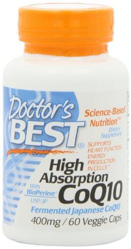 Best High Absorption CoQ10 du médecin (400 mg), capsules végétales, 60-Count