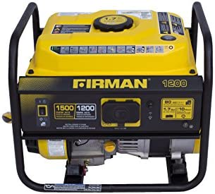 Firman P01201 1500/1200 Watt Gas Recoil Start Portable Generator