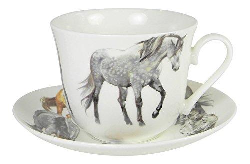 Roy Kirkham My Horse Breakfast Teacup and Saucer Set Fine Bone ()