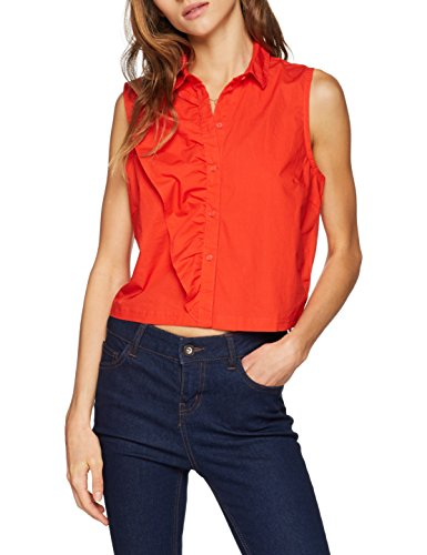 Fabric Onlamanda Flame Blocking L Shirt Rosso Wvn Only S Scarlet Flame Camicia Donna Scarlet B1wd51q
