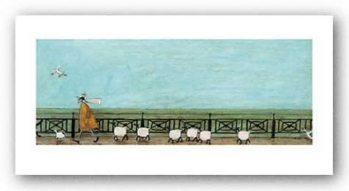 Art Lithograph Rare (Moses Follows That Picnic Basket Sam Toft Contemporary Humor Print Poster 20x40)