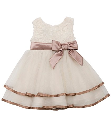 Rare Editions Toddler Girl Ivory Soutache Special Occasion Dress (3t/3) ()