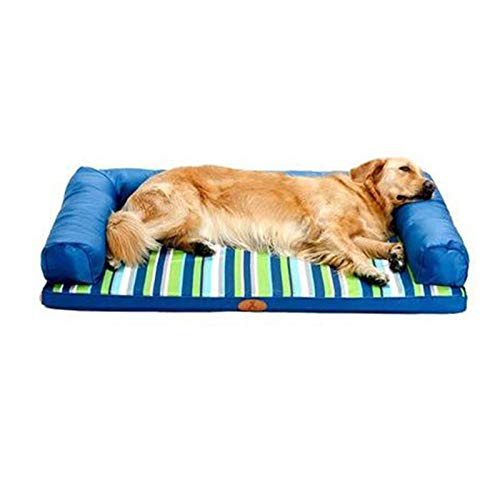 120×89cm Qz Waterproof Dog Bed for Dogs Cat Pet, Indestructible Puppy Kennel Beds Sofa for Small Medium Large Dog, Oxford Cloth, Brown (Size   120×89cm)