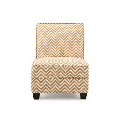 Ryder Ziggi Slipper Chair Color: Orange