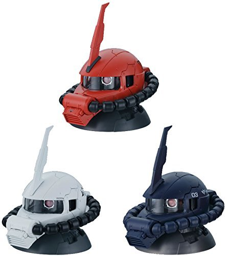 Gashapon Mobile Suit Gundam Exceed Model Zaku Head 2 Normal Set