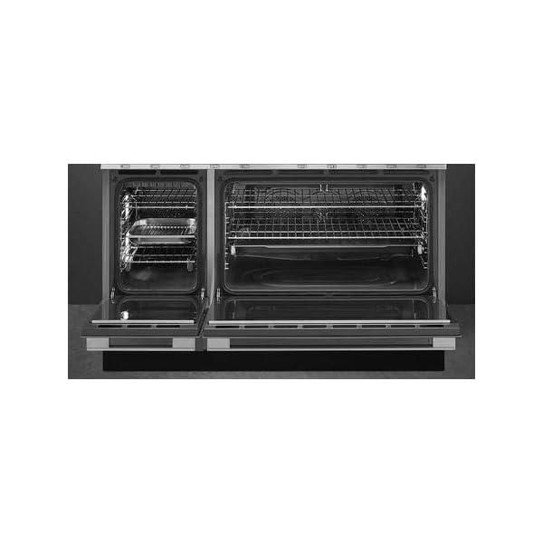 Smeg Portofino Pro-Style Aesthetic Series 48-Inch Freestanding Dual Fuel Range (Orange) 3