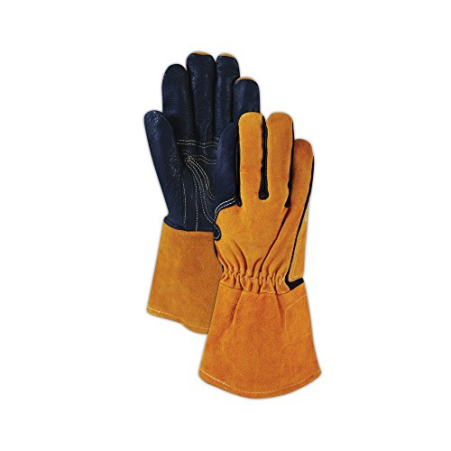 Magid Glove & Safety T8800-M Magid WeldPro T8800 Pig Grain MIG Welding Gloves, Black , Medium (Pack of 12) by Magid Glove & Safety (Image #3)