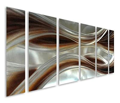 Metal Wall Art Caramel Desire - 100% Handmade Original Design - Light Weight Aluminum Sculpture - 3D Decorative Abstract Panels - Unique Decoration for Living Room & Bedroom - Large Contemporary Modern Home Decor Artwork - Life Time Quality Guarantee