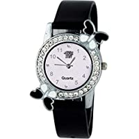 Swadesi Stuff Exclusive Premium Quality Diamond Studded Butterfly Stylish Analog Watch for Girls & Women