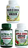 Weight Loss Bundle with ULTRA-15 Probiotics Apple Cider Vinegar Capsules and 95% HCA Garcinia Cambogia (Weight Loss Bundle) Review