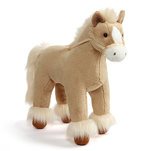 GUND Dakota Clydesdale Horse Standing Stuffed Animal Plush, Tan, ()