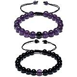 CAT EYE JEWELS Long Distance Matching Couple Friendship Bracelets 8mm Healing Beads C003