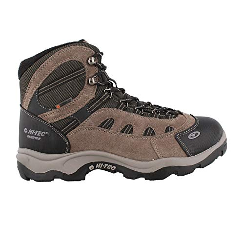 Hi-Tec Men's Bandera Mid 200g Waterproof-M Snow Boot, Dark Chocolate/Bungee Warm Grey, 13 M US