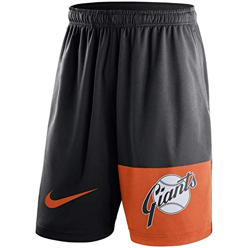 San Francisco Cooperstown Collection Dry Fly Shorts - Black (2X-Large) - Mens Shorts Francisco Giants San
