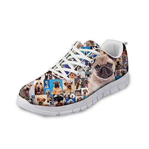 HUGS Women's Comfort Cute Eyes IDEA Running Pug Pattern Sneakers Casual Cat Shoes qXwqUrxC