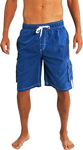 NORTY Swim - Big Mens Swim Suit, Royal 39966-XXX-Large by NORTY