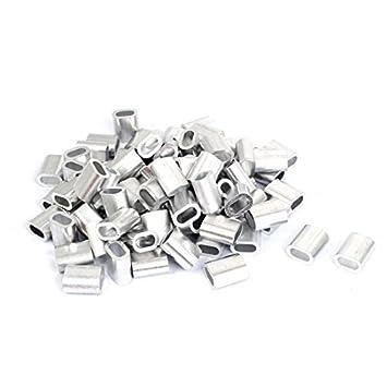 DealMux für 6mm Stahlkabel Aluminium Drahtseil Zwinge Crimphülsen ...