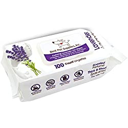 Lavender-Scented Calming Pet Wipes for Dogs & Cats - Extra Soft & Strong Grooming Wipes with Gentle Plant-Derived Formula - by Best Pet Supplies, 100 Pack